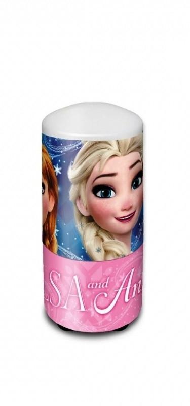 Plastová noční lampička pro holky Ledové Království / Frozen / Anna a Elsa 7 x 13 cm