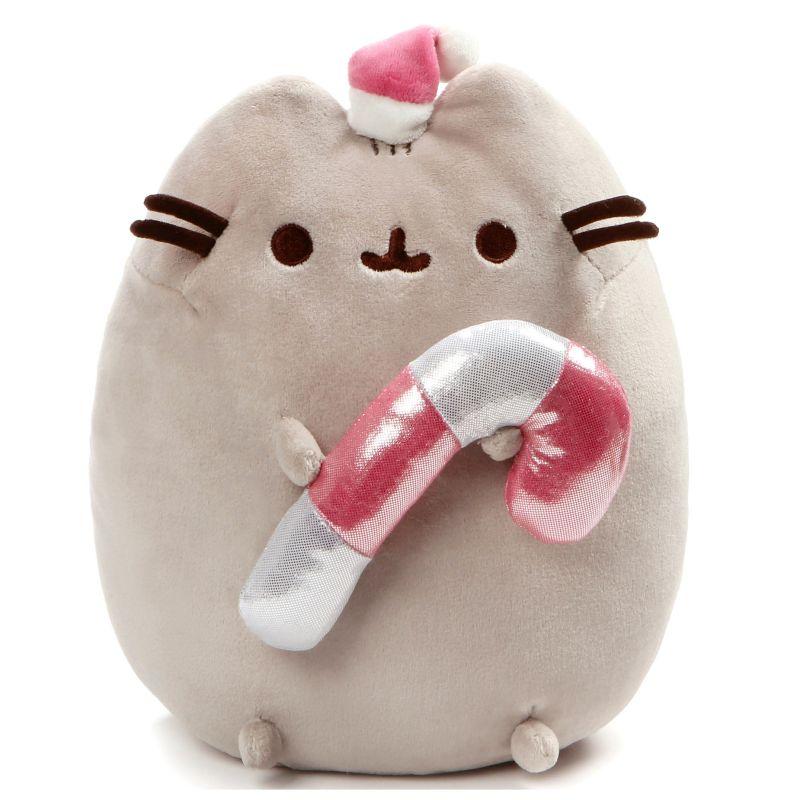 Plyšová hračka kočička Pusheen s 3D lízátkém / Santa Claus 27 cm