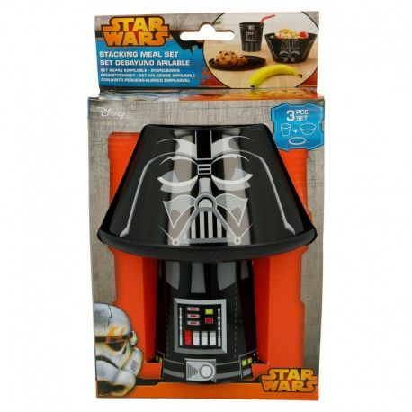 Snídaňový plastový set Star Wars / Hvězdné války / Darth Vader / miska talířek a kelímek