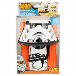 Snídaňový plastový set Star Wars / Hvězdné války / Stormtrooper / miska talířek a kelímek  / vecizfilmu