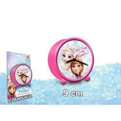 Dívčí analogový budík Elsa a Anna / Frozen / Ledové Království průměr 9 cm / vecizfilmu