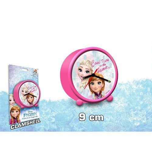 Dívčí analogový budík Elsa a Anna / Frozen / Ledové Království průměr 9 cm