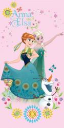 Dívčí růžová osuška Frozen / Ledové Království / Anna Elsa a Olaf