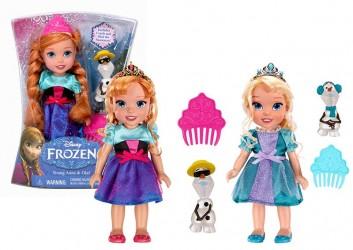 panenka FROZEN - princezna a sněhulák