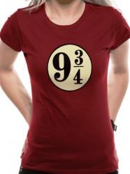Dámské tričko s krátkým rukávem Harry Potter Platform 9 a 3/4 / velikost S / vecizfilmu