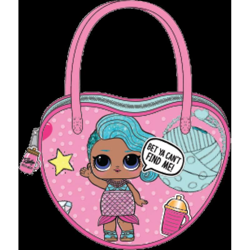 Dívčí kabelka do ruky ve tvaru srdce LOL Surprise / 12,7 x 15,3 x 4 cm