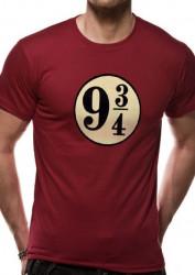 Pánské tričko s krátkým rukávem Harry Potter Platform 9 a 3/4 / velikost M  / vecizfilmu