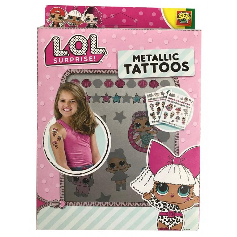 Metalické dívčí tetování LOL Surprise