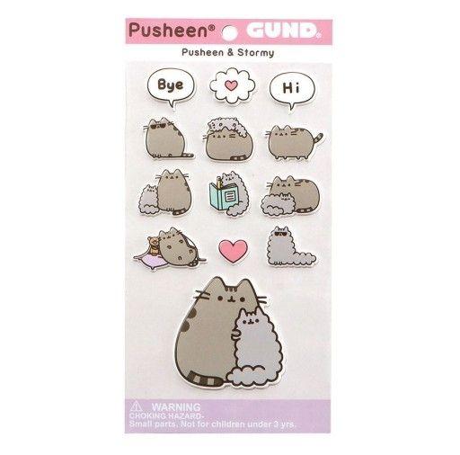 Sada 13 ks samolepek kočičky Pusheen Love 9 x 17 cm