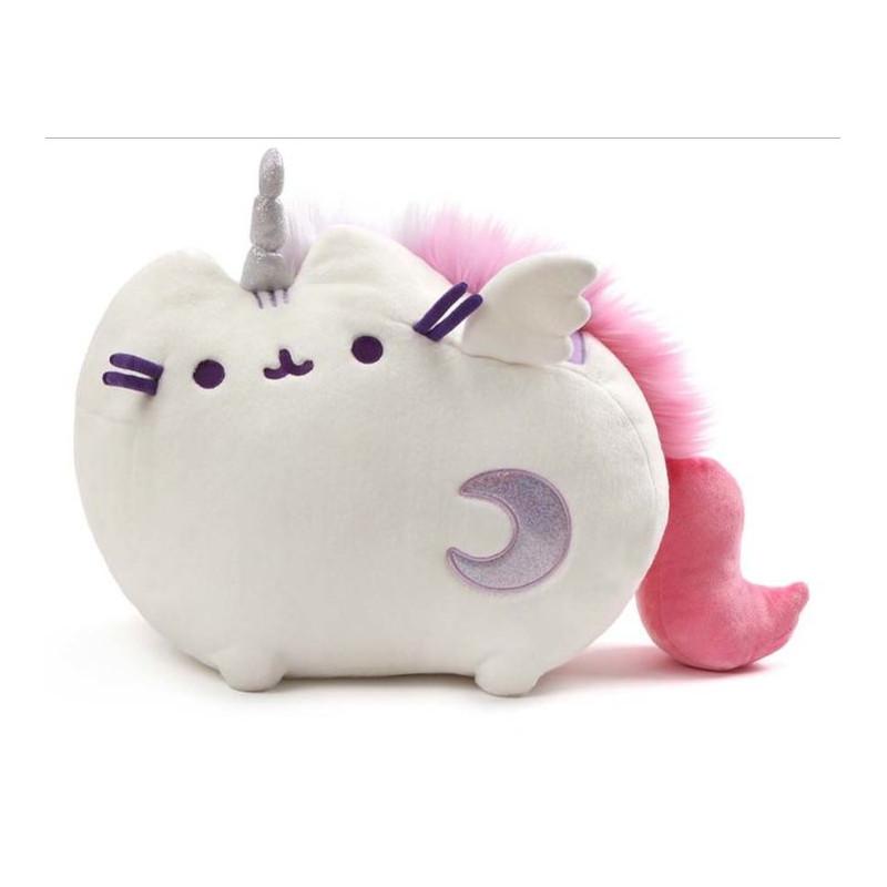 Svítící a hrající plyšová kočička Pusheen jako Unicorn 45 x 29 cm