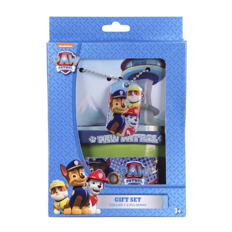 Chlapecký set Tlapková Patrola / Paw Patrol řetízek s přívěškem / gumový náramek na ruku a hrubý náramek na cvoky