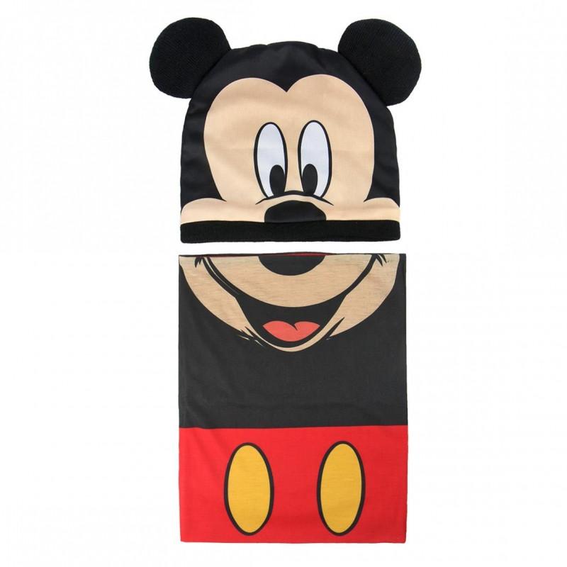 podzimní / zimní sada Mickey Mouse / čepice, nákrčník / 50 - 52 cm