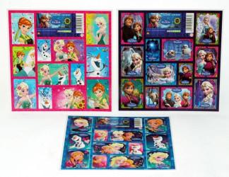 Sada 12 ks dívčích samolepek Ledové království / Frozen / vecizfilmu