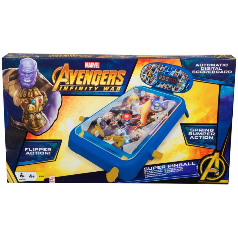 Dětská Stolní digitální hra Avengers Pinball / 4,5 x 27 x 47 cm