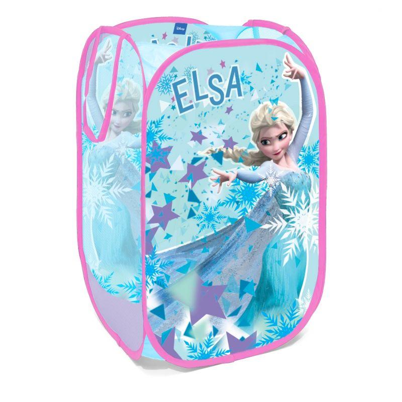 Skládací koš na hračky Elsa / Frozen / Ledové Království 36 x 36 x 58 cm