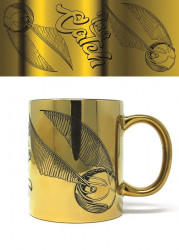 Keramický hrnek Harry Potter / Gringotts / zlatý vzhled / 315 ml / veci z filmu