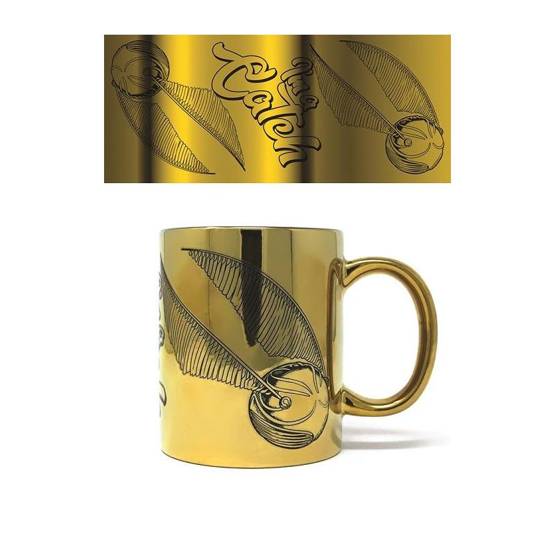 Keramický hrnek Harry Potter / Gringotts / zlatý vzhled / 315 ml