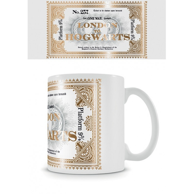 Keramický hrnek Harry Potter / Hogwarts Express Ticket / 315 ml