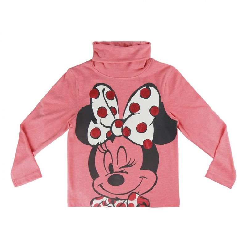 Dívčí růžový rolák s dlouhým rukávem Myška Minnie / Minnie Mouse 3 - 7 let