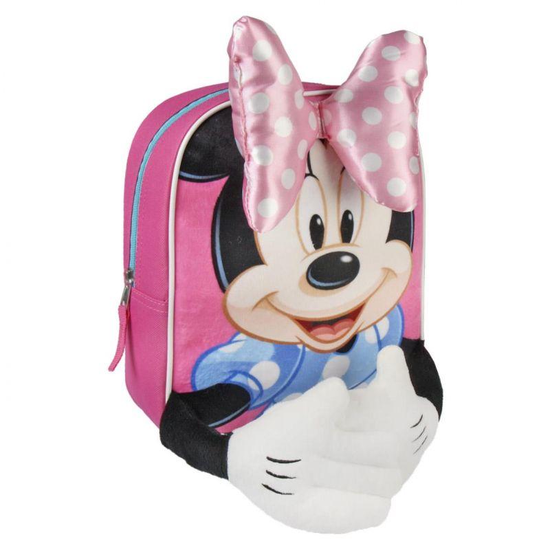 Dívčí 3D batoh s myškou Minnie / Minnie Mouse 23 x 28 x 9 cm