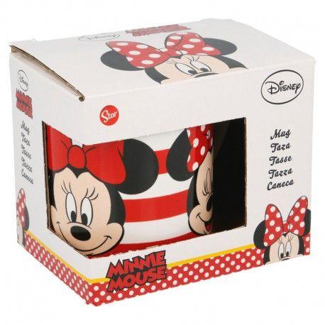 Dívčí keramický hrnek Myška Minnie / Minnie Mouse Proužky 230 ml