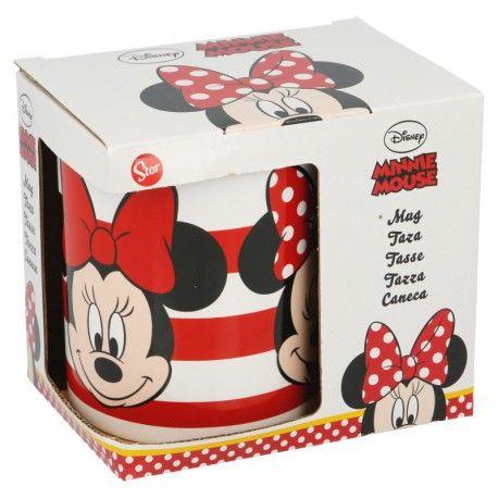 Dívčí keramický hrnek Myška Minnie / Minnie Mouse Proužky 315 ml
