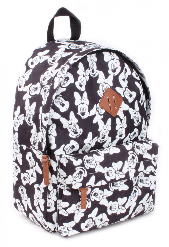 Dívčí černo bílý batoh Myška Minnie / Minnie Mouse 39 x 29 x 16 cm