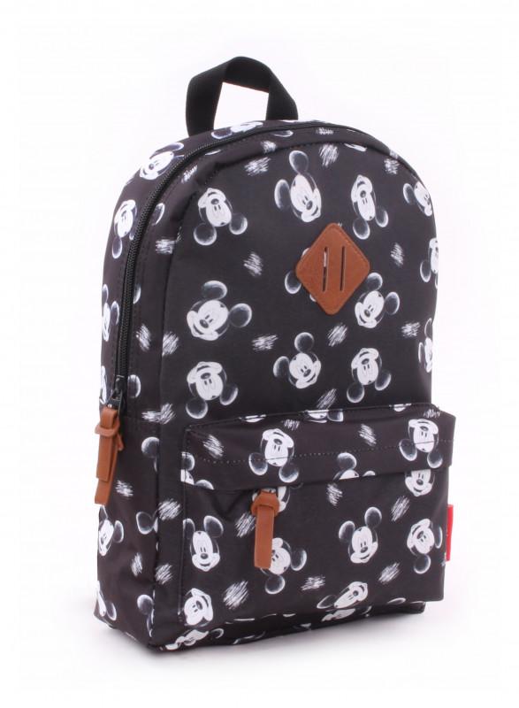 Chlapecký černo bílý batoh s Myšákem Mickey / Mickey Mouse 34 x 23 x 13 cm