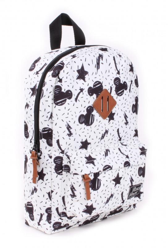 Chlapecký bílý batoh s Myšákem Mickey / Mickey Mouse Hvězdičky 34 x 23 x 13 cm
