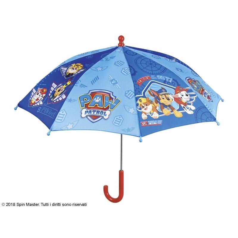 Manuální dětský deštník Paw Patrol / modrý / 38 cm