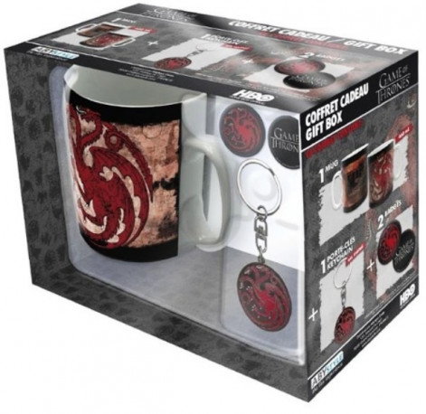 DÁRKOVÝ SET HRNEK HRA O TRŮNY / GAME OF THRONES 460 ml  TARGARYEN