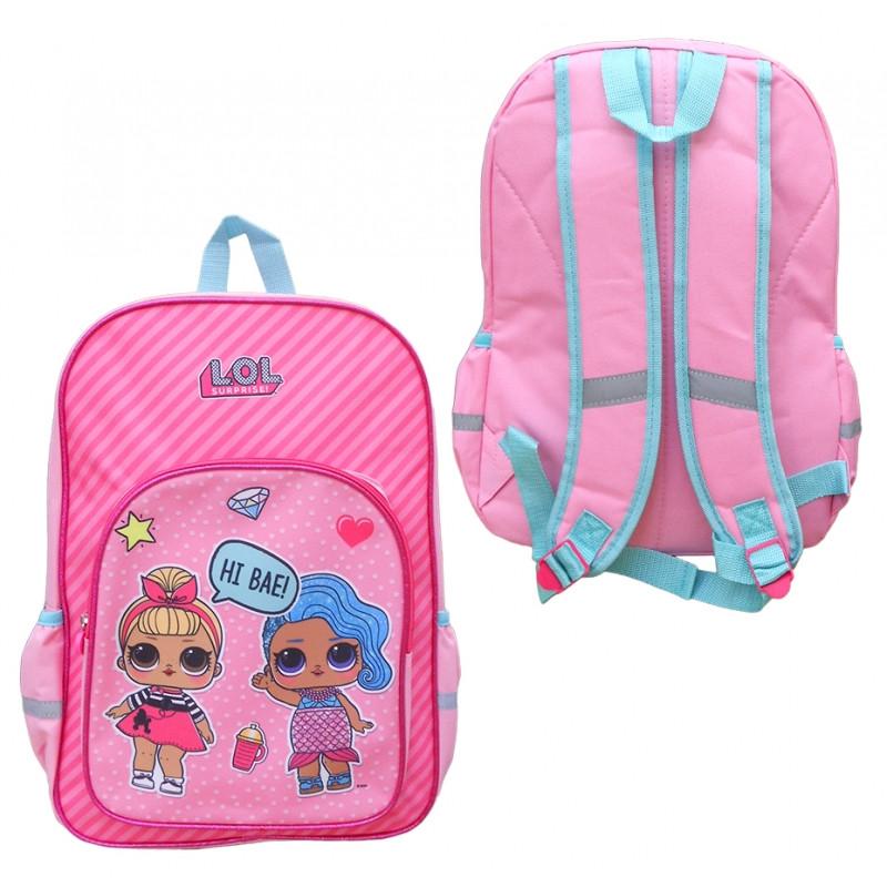 Dívčí růžový batoh LOL Surprise / 41 x 30,5 x 12 cm