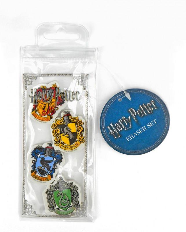 Sada 4 ks tvarovaných školních gum Harry Potter