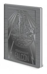 Linkovaný A5 deník / zápisník Star Wars / Falcon / vecizfilmu