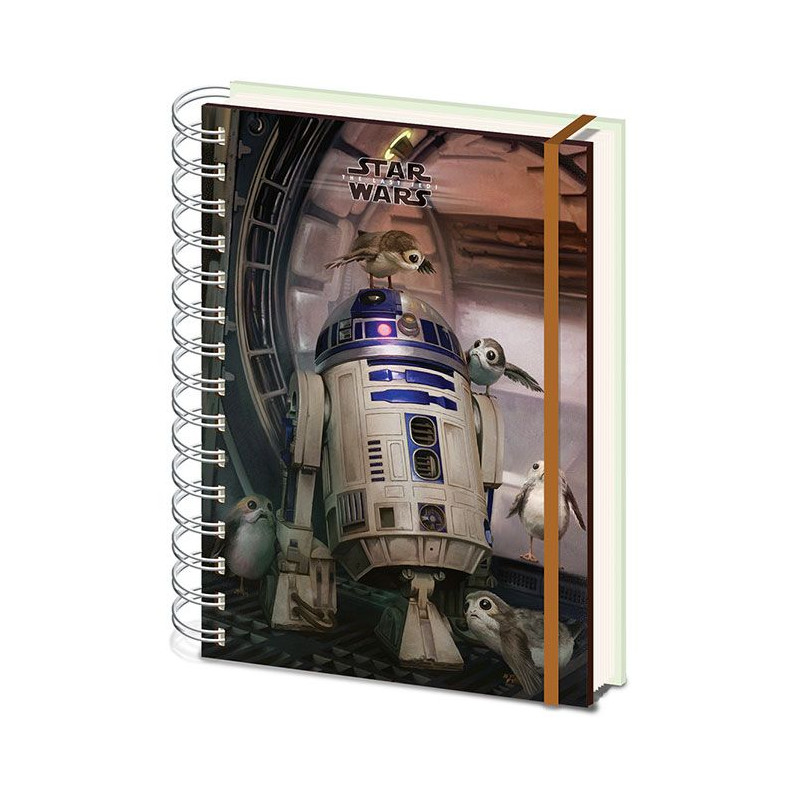 Linkovaný kroužkový A5 deník / zápisník Star Wars / R2-D2