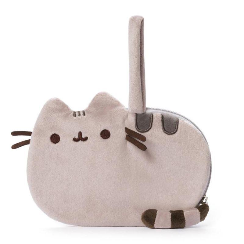 Dívčí plyšová kapsička s ouškem na zápěstí kočička Pusheen 20 x 13 x 1 cm