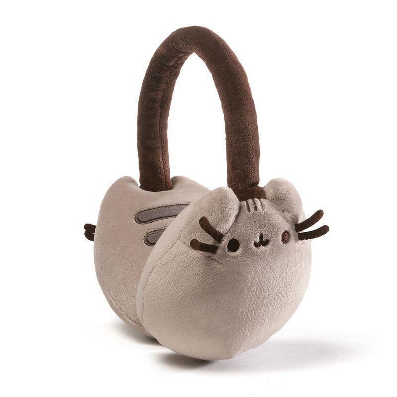 Plyšové zimní hřejivé klapky na uši kočička Pusheen