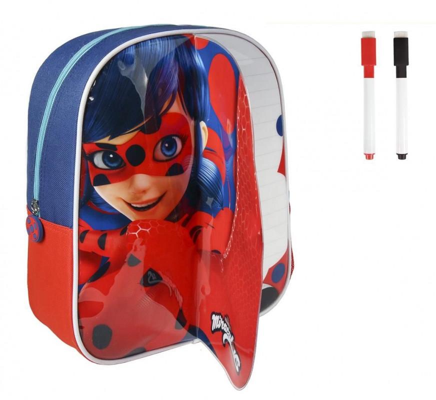 Batoh s přední stranou na kreslení Miraculous Ladybug backpack  / Zázračná beruška / 25 x 31 x 10 cm