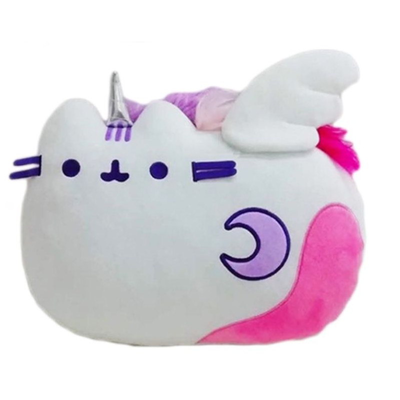 Plyšový polštář kočička Pusheen Unicorn s křídly a hřívou 38 x 28 x 8 cm