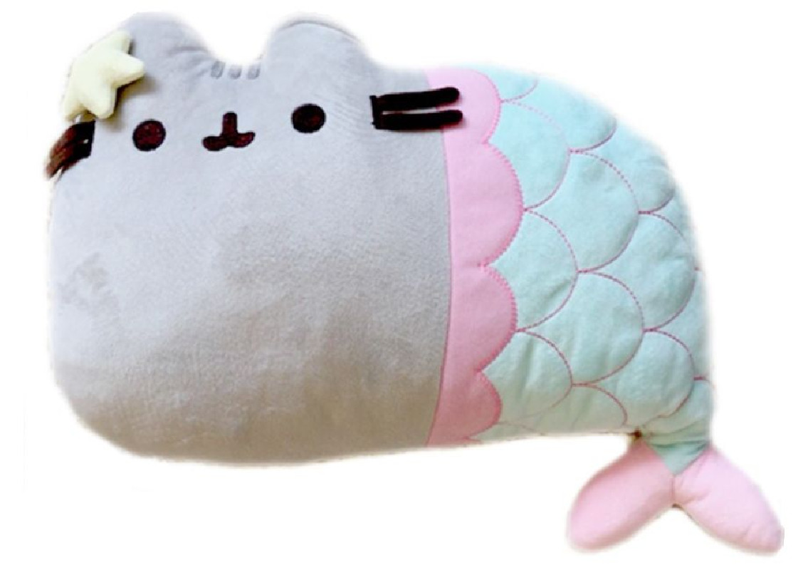 Plyšová kočička Pusheen jako mořská panna 35 x 25 x 8 cm