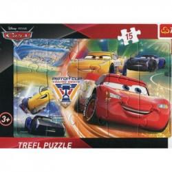Hra puzzle Cars / 15 dílků /  veci z filmu