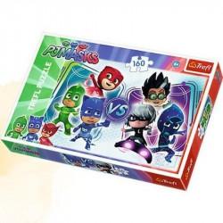 Hra pro děti puzzle PJ Masks / 160 dílků / veci z filmu