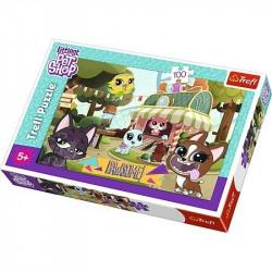 Hra puzzle Littlest Pet Shop / 100 dílků / veci z filmu