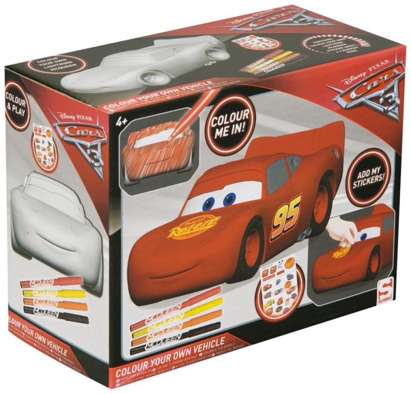 Kreativní set auto k vybarvení Cars / Auta / 9 x 14 x 18 cm