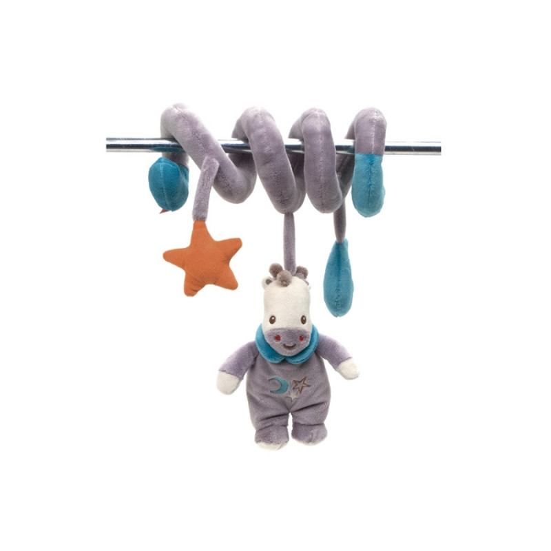 Plyšová figurka s chrastítkem spirálka Fisher Price / Žirafa / veci z filmu