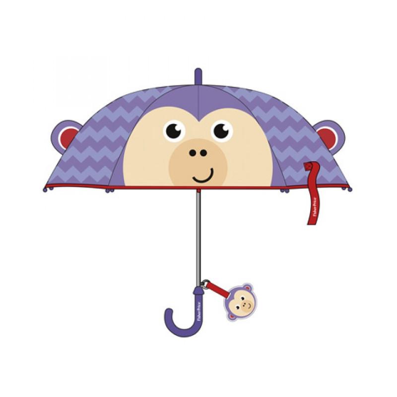 Manuální deštník pro děti Fisher Price / opice / 38 cm / veci z filmu