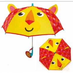 Manuální deštník pro děti Fisher Price / Lev / 38 cm