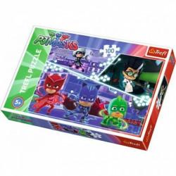 Hra puzzle PJ Masks / 100 dílků / veci z filmu