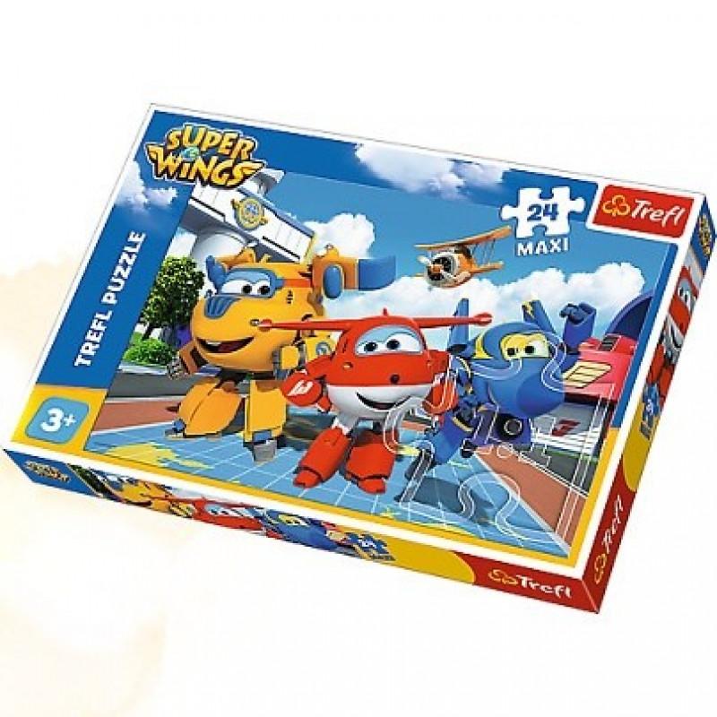 Hra Puzzle Letadla / Super Wings / maxi 24 dílků / veci z filmu