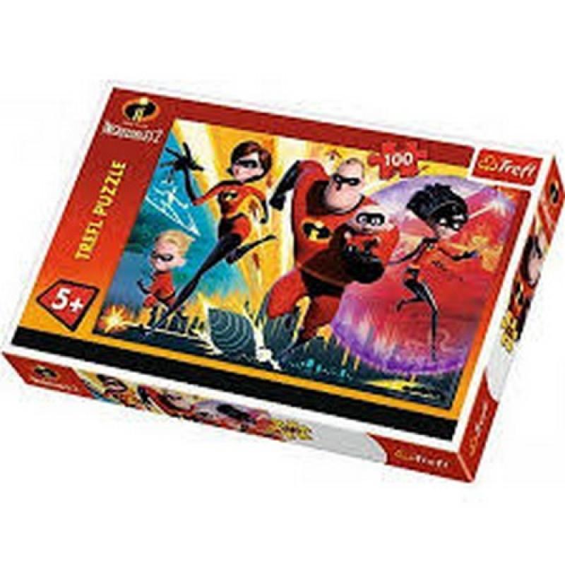 Hra puzzle Úžasňákovi / The Incredibles / 100 dílků / věci z filmu
